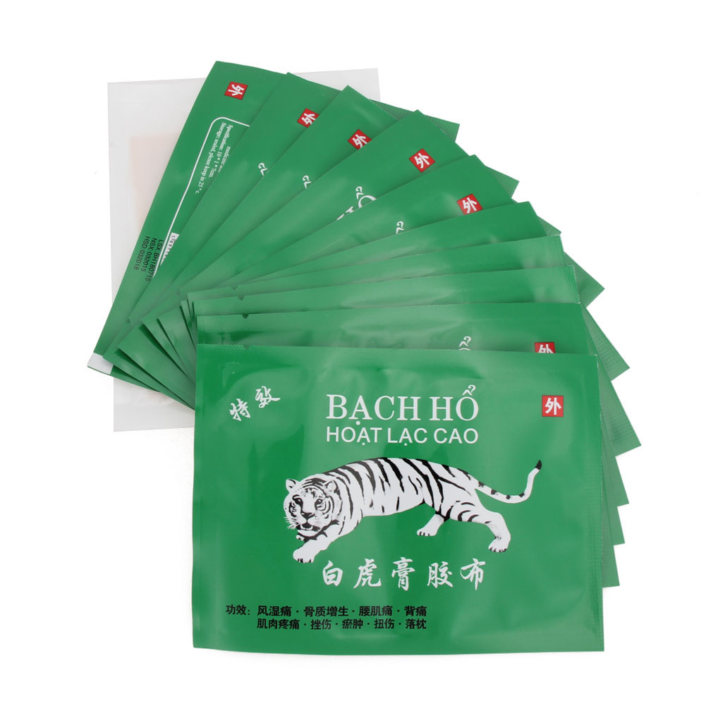 10pcs Tiger Pain Patch Muscle Massage Relaxation Herbs+1pc Moxa Plaster Chinese Medical Herbal Pain Relief Plaster GUB# 2boxes 12 magnetic patch for hyperosteogeny medical massage patch treat osteoarthritis bone hyperplasia spondylosis herb plaster