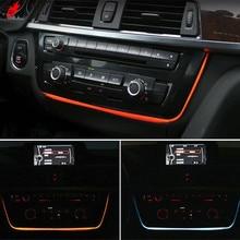 Подсветка Led двойной цвет AC/Радио отделка модернизации для BMW 3 4 GT серии F30 F31 F34 F32 F80 F81 M3 M4