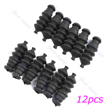 Nice 1set 12pcs Waterproof Push Rod Rubber Seal Bellow Normal Size 37mm For RC Boat