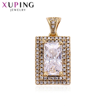 Xuping Elegant Temperament Gold Color Plated With Synthetic CZ Necklace Pendant  Jewelry Gift for Thanksgiving Day S68-4-32895