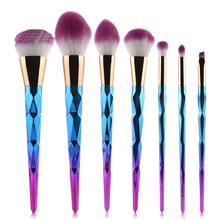 7pcs Women Makeup Brushes Sets Spiral Handle Cosmetic Foundation Eyebrow Lip Brush Tool