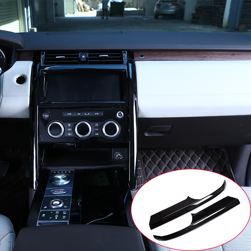 Gloss Black ABS Chrome Center Console Decoration Strips Trim Accessories For Land Rover Discovery 5 LR5 2017 Car-styling 2pcs newest for land rover range rover evoque abs center console gear panel chrome decorative cover trim car styling 2012 2017 page 10