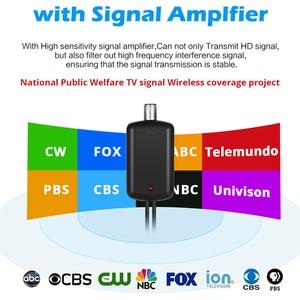 Image 2 - מקורה HDTV Antena טלוויזיה דיגיטלית אנטנה + אות מגבר מגבר VHF UHF כבל טלוויזיה לגלוש שועל Antenas טלוויזיה רדיוס אנטנות DVB T/T2