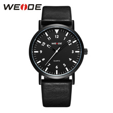 WEIDE black PU leather strap Analog quartz mens luxury brand sports Clock fashion casual Business automatic date wrist watches unisex sports mens clock luxury brand black dial quartz watch men fashion pu leather strap analog wrist watches military yl
