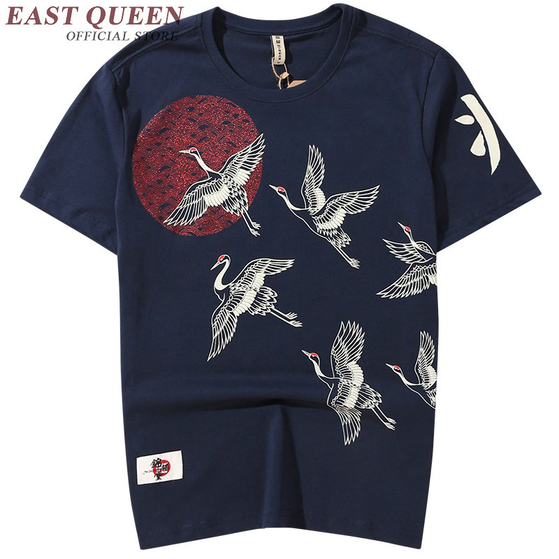 Traditional chinese clothing for men vintage oriental mens t shirt men luxury casual crew neck tee KK815 YQ