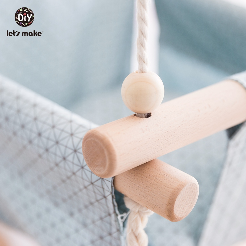 HTB1mihFarj1gK0jSZFOq6A7GpXaA Let's Make Baby Swings Canvas Hanging Chair 13-24 Months Hanging Toys Hammock Safety Baby Bouncer Indoor Wooden Swing Rocker