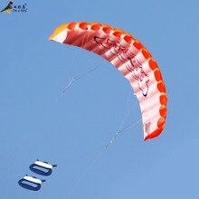 Для отдыха на открытом воздухе, для спорта, мощность, двойная линия, для трюков, парафойл, парашют, Радужный, для спорта, пляжный кайт для начинающих