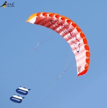 Zabawa na świeżym powietrzu sport moc podwójna linia Stunt Parafoil spadochron Rainbow sport plaża latawiec dla początkujących tanie i dobre opinie Poliester 12-15 lat Dorośli 2163 Uchwyt i linii latawca Unisex Długi Zestaw Don t fly in storm