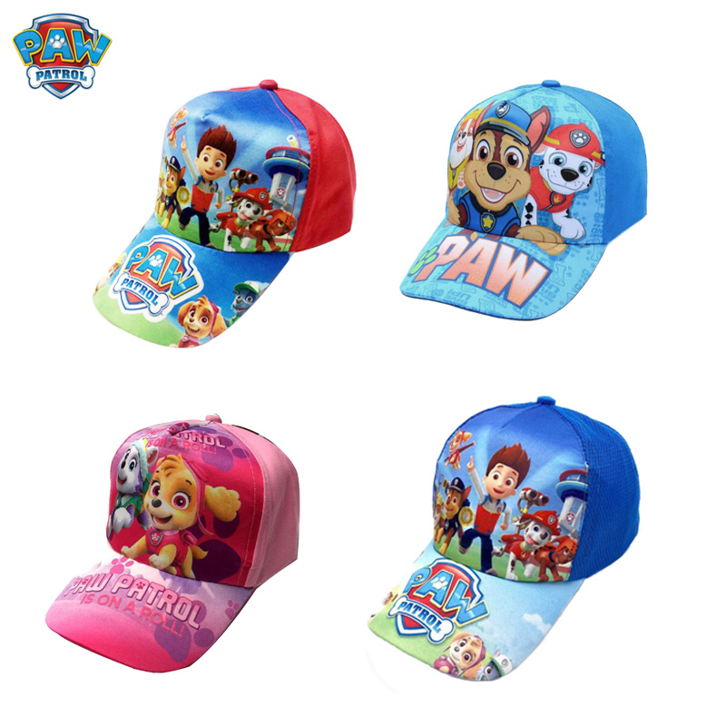 Paw Patrol Cotton Patrulla Canina Cute Children's Summer Hats Caps Headgear Chapeau Puppy Print Party Kids Birthday Gift Toy