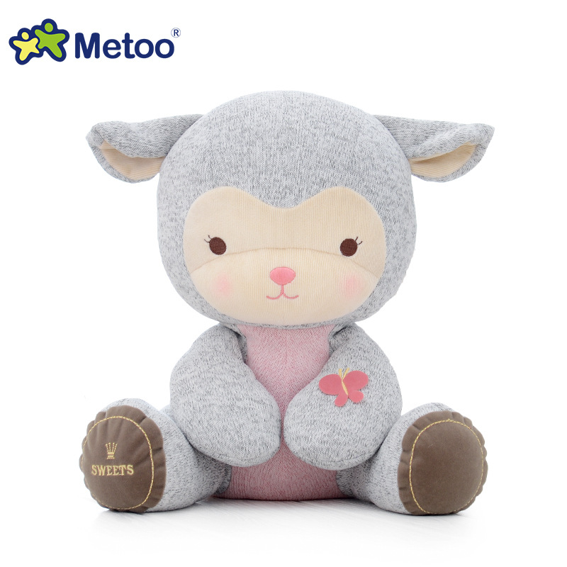 13 Inch Metoo Sheep Plush Sweet Dolls Stuffed Brinquedos Lovely Cartoon Baby Kids Toys for Girls Birthday Christmas Gift Doll 7inch free shipping stiched stuffed animalsl christmas gift the pendant goods for creativity brinquedos kids