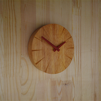 Clock wood Classic 6-inch small wooden wall  wall clock mute creative minimalist watches table table clock Pastoral wall