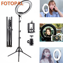 Fotopal Dimmable 18″ 55W 5500K LED Camera Video Ring Light Kit with 2M Tripod 2 Color Filer Carry Bag for Makeup Photo Lighting
