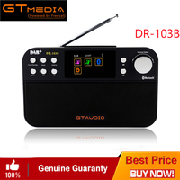 FREESAT DR 103B Portable Digital DAB+ DAB FM Radio DAB RDS Wavebands Receiver BT 4.0 Speaker Stereo Receptor 2.4 Inch Display