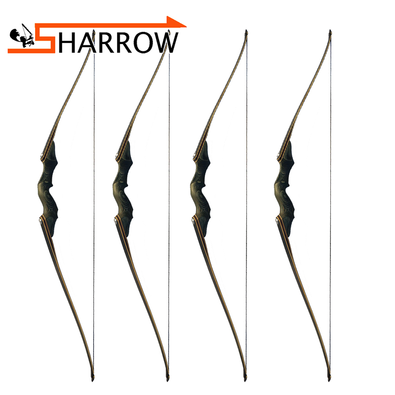 цена на 1 Set 60Inch 30lbs-60lbs Archery Black Hunter Recurve Bow Takedown Bow Left and Right Hand Customization Hunting Shooting Sports
