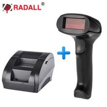 Hot-sale! Supermarket thermal receipt printer 58mm Barcode Scanner RD-5890K + RD-2013