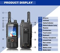 2018 newest WCDMA network walkie talkie T298S WIFI sim card intercom transceiver mobile phone GPS WIIF two way radio UHF VHF