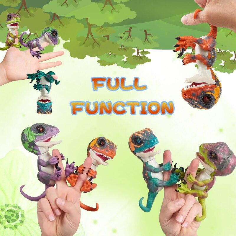 Lensple Electronic Pet Interactive Toys Finger Dinosaurs Domesticated Raptor Bruce 4 Colors Smart Dinosaur Popular Toys For Kids цены онлайн