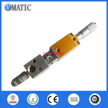 Free Shipping Pneumatic Double Acting Needle-Off (Tip-Seal) Dispensing Valve With Micrometer Tuner Glue Dispense Nozzle Valve