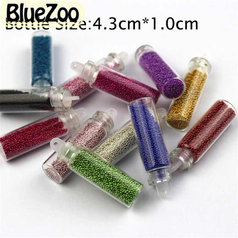 Bluezoo 12 bottles mixed colors nail art glitter small for Paillette decoration