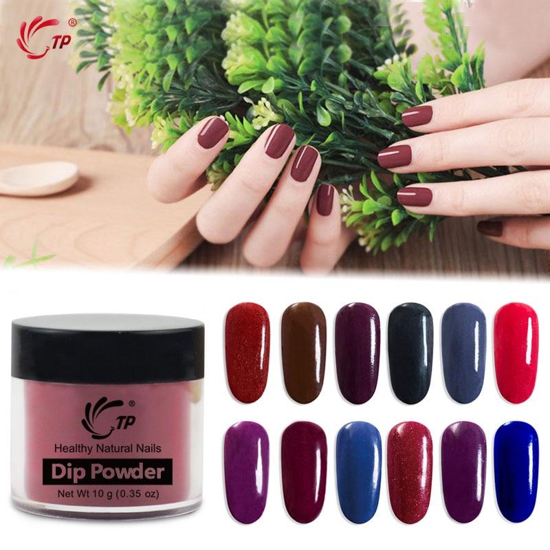 Nail Salon Dipping Powder: Dipping Powder Dark Color Winter For Lady Blue Red Nail