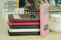 For IPhone5 5S Flip Case Front View Window PU Leather With Stand Function Book Cover For