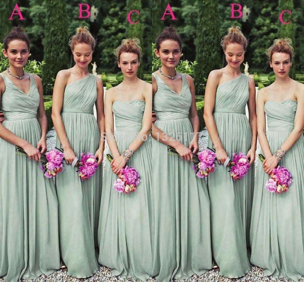 Different styles of bridesmaid dresses images braidsmaid dress online get cheap different green bridesmaid dresses aliexpress cheap 2017 size color available chiffon mint green ombrellifo Image collections