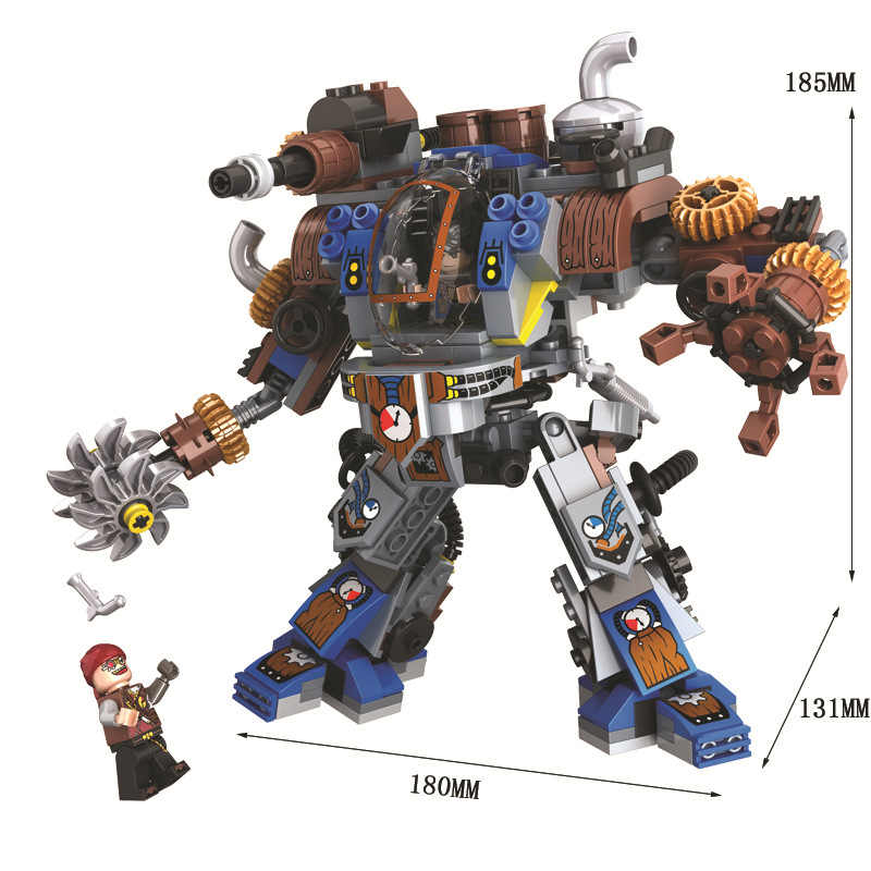 371pcs  Steam Creator Titan Robots Compatibie with Legoings Building Blocks Toy Kit DIY Educational Children Christmas Gifts
