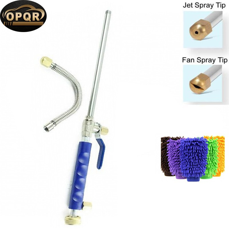 High Pressure Wand Improved Power Washer Water Hose Nozzle Hydro Water Jet, Glass Cleaner Cleaning Gloves