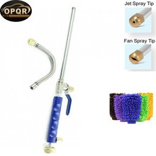 High Pressure Wand Improved Power Washer Water Hose Nozzle Hydro Jet, Glass Cleaner Cleaning Gloves