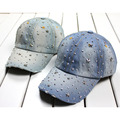 free shipping 500 PCS/LOT summer women's baseball cap sunbonnet cap handmade Novelty rhinestone star pasted hat 2Color