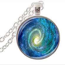 Fashion Nebula Space Pendant Astronomy Geek Jewelry,Nebula Pendant Galaxy Necklace Space Necklace Glass dome necklace A102-2