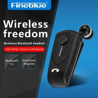 FineBlue F930 Wireless Freedom Business Bluetooth Headset Call Clarity Music No Bound Smart One Drag Two