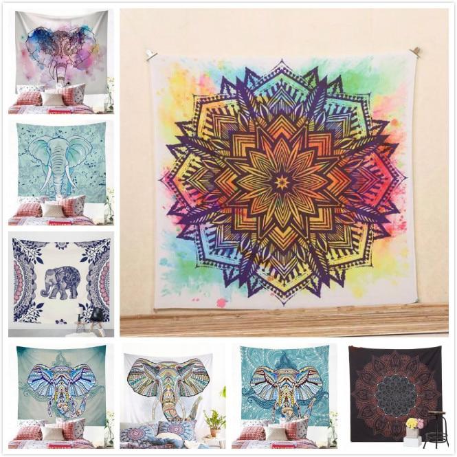 Indian Mandala Blankets Tapestry Wall Hanging Bohemian Bedspread Blanket Dorm Home Decor Mantas Mandalas