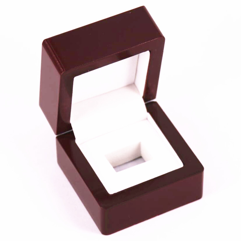 Factory Wholesale Price Solid One slot Championship Ring Wooden Display Box Drop Shipping|Jewelry Packaging & Display|   - AliExpress