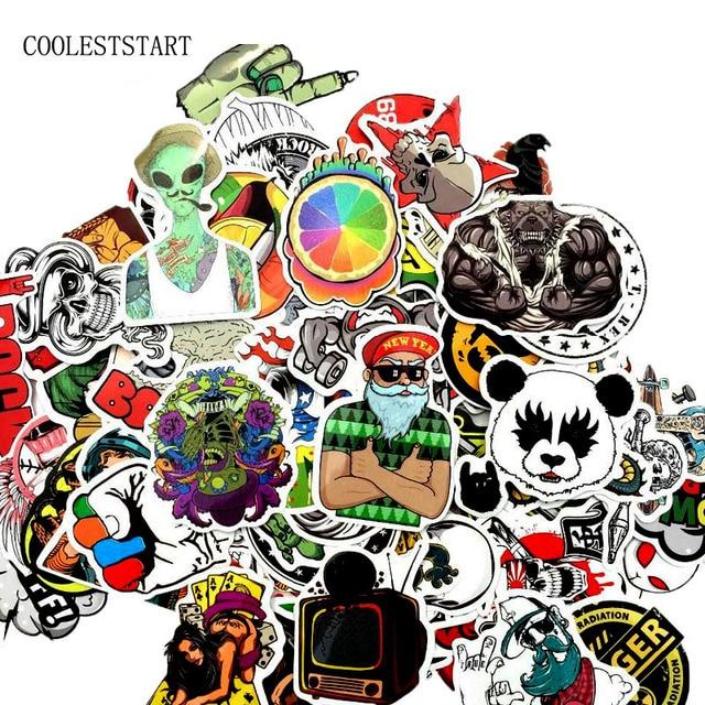 50-100 PCS Graffiti Retro Animal Creative Cool Waterproof Sticker for Suitcase Laptop Etc. 2