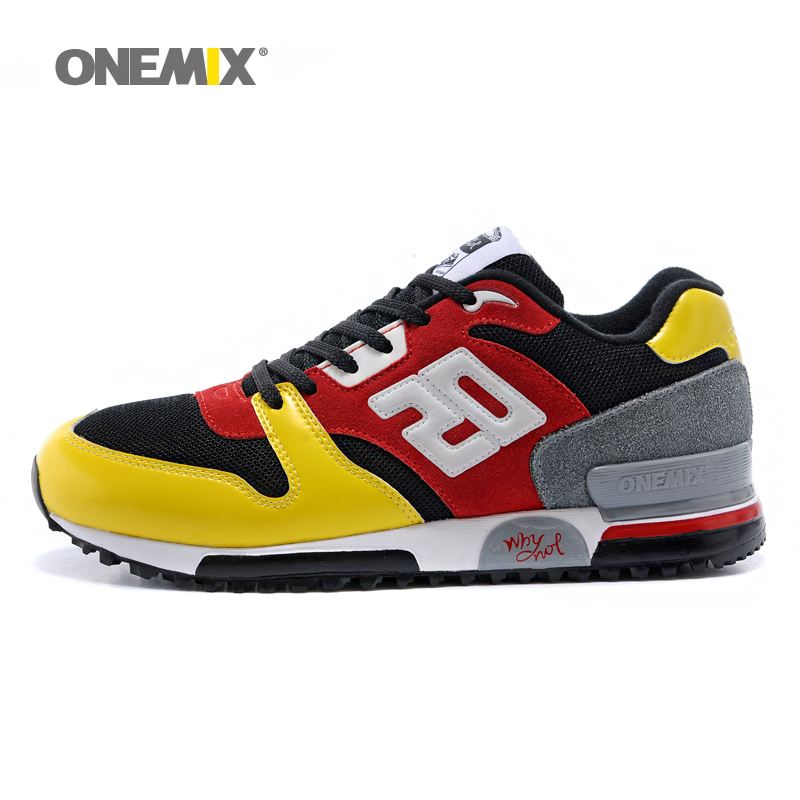 Onemix men & women retro running shoes light cool sneakers breathable athletic shoes for outdoor sports jogging walking trekking