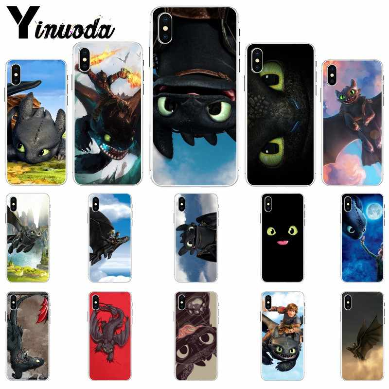Yinuoda Toothless How To Train Your Dragon HTTYD Coque Shell Phone Case for Apple iPhone 8 7 6 6S Plus X XS MAX 5 5S SE XR Cover