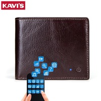 KAVIS NEW BRAND SMART Men Wallet RFID High Quality Genuine Leather Anti Lost Intelligent Bluetooth Wallets Suit for IOS, Android