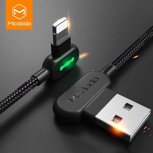 MCDODO Kabel USB untuk iPhone X XS Max XR 8 7 6 5 6 S S PLUS Kabel Pengisian Cepat kabel Mobile Phone Charger Kabel USB Kabel Data
