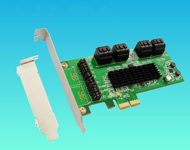 ФОТО Free Shipping 8 Port Internal SATA 3.0 Support 1.5Gb/3Gb/6Gb PCIe PCI-Express Expansion Card High Quality