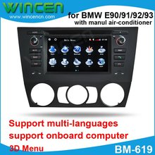 6.2″ Car DVD GPS Player for Manual BMW E90/91/92/93 with 3D Menu multi-languages High Quality Free Shipping+Free Card with Map