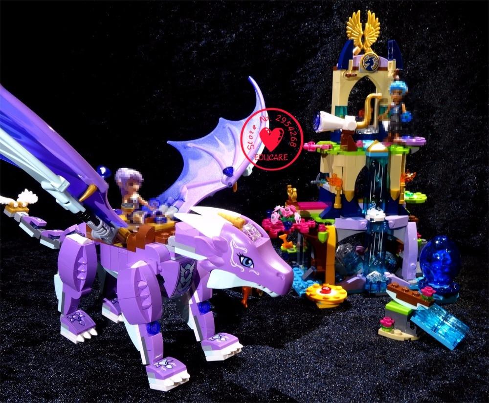 New Elves fairy Dragon Sanctuary building Blocks Bricks Toys 41178 - Mainan pembinaan - Foto 2