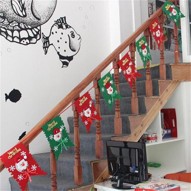 Рождество Флаг Висит Партии Санта-Клауса Снеговик PatternFlags Баннеры Комплекты Украшения для Дома