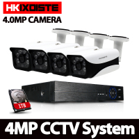 HKIXDISTE 4CH CCTV System 4MP HDMI AHD CCTV DVR 4PCS 4 0 MP IR Outdoor Security