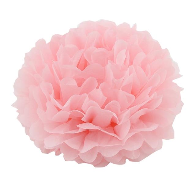 6pcs 1537cm Light Pink Hanging Tissue Paper Flower Pom Pom Party