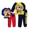 Cão de Patrulha da Longo-Luva Camisas Calças Conjuntos Dos Desenhos Animados Do Traje de Natal Roupas para Meninos da Criança do bebê Encabeça Crianças Sportswear Algodão presente