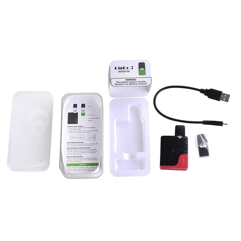 Vape Mods Ciggo J Box Pod Starter Kit With 0 6ml Capacity Pod For JUUL JC01  COCO 350mAh Battery Electronic Cigarette Box Mod