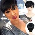 Новый Эльфа Вырезать Парики Короткие Парики Для Чернокожих Женщин Афро американские Дешевые Короткие Парики Черные Волосы Синтетический Парик Парик Синтетического женщи