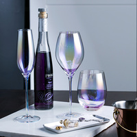 Ion Plating color Ultrathin Glass Wine Glass Crystal Glass Goblet Champagne bar Glasses Colorful