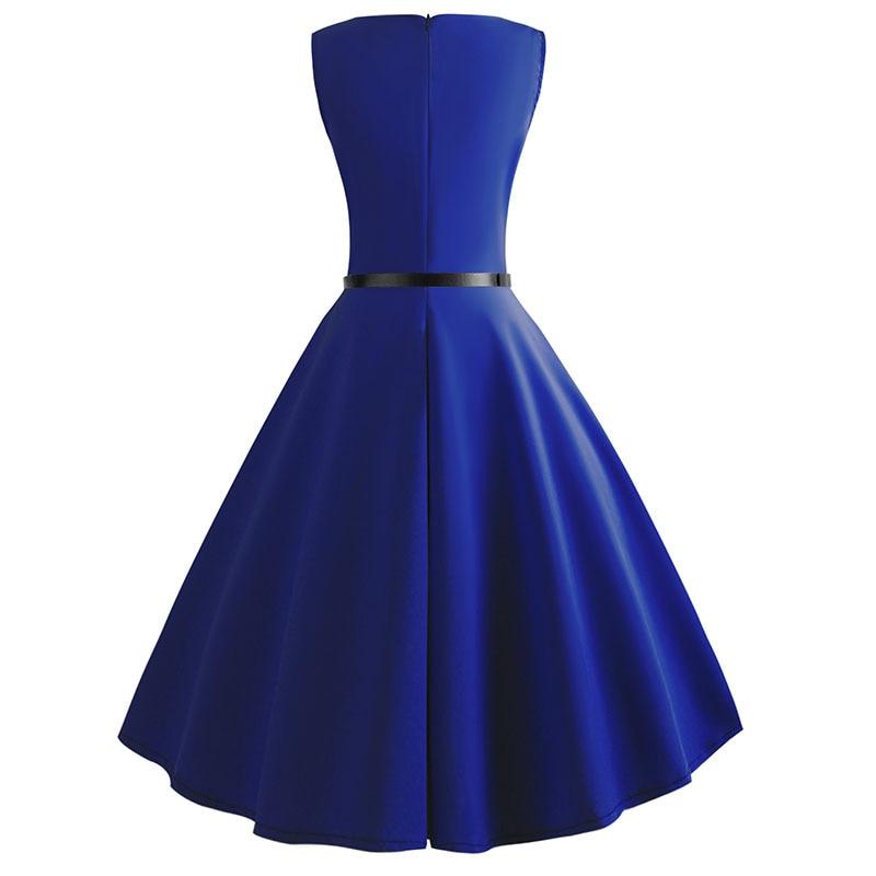 Blue Vintage Swing Dress 103